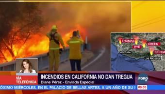 Incendios forestales no dan tregua en California