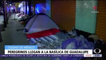 Peregrinos llegan a la Basílica de Guadalupe
