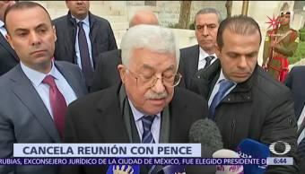 Abbas cancela reunión con Mike Pence
