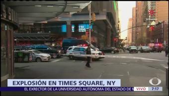 Ataque en Nueva York, con bomba casera