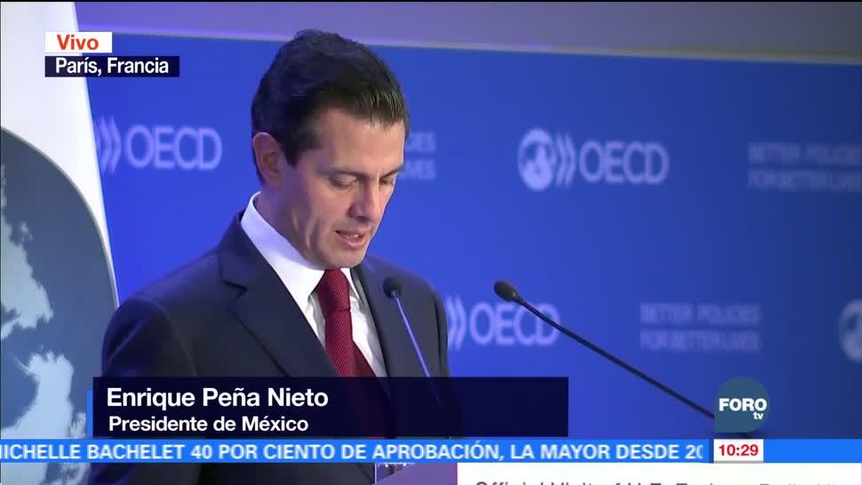 Enrique Peña Nieto habla de las reformas estructurales en la OCDE