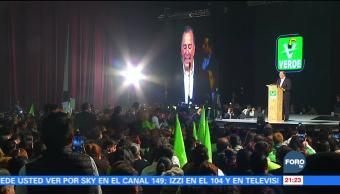 PVEM expresa su apoyo a José Antonio Meade