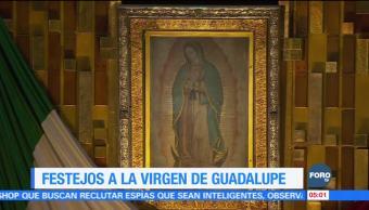 Peregrinos veneran a la Virgen de Guadalupe
