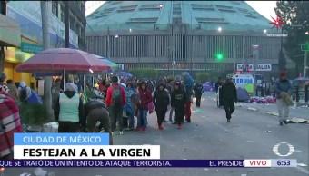 Miles de peregrinos veneran a la Virgen de Guadalupe en CDMX