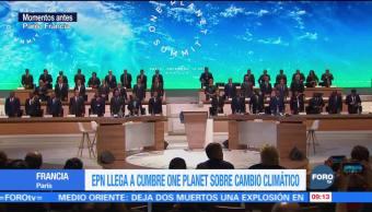 EPN llega a la Cumbre One Planet sobre cambio climático