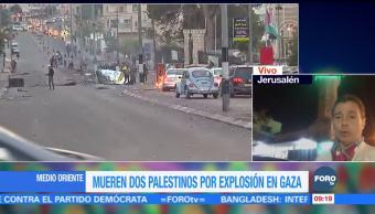 Mueren dos palestinos por explosión en Gaza