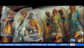 Retratos de México: Artesana crea nacimientos de yeso desde hace 20 años