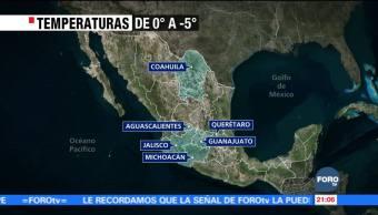 Onda gélida cubre gran parte de México