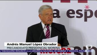 Andrés Manuel López Obrador se registra como precandidato