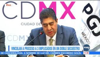Vinculan a proceso a tres presuntos secuestradores en la CDMX
