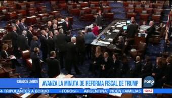 Avanza la reforma fiscal en el Congreso estadounidense