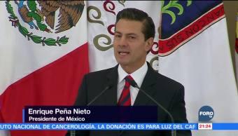 Peña Nieto llama a trabajar en unidad para la elección de 2018