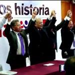 Se oficializa coalición Morena-PT-PES