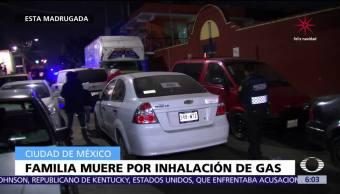 Familia muere por inhalación de gas en la delegación Venustiano Carranza