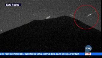 Lluvia de estrellas se aprecia en el Popocatépetl