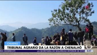Tribunal agrario ordena restituir 300 hectáreas a Chenalhó