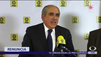 Pablo Gómez renuncia al PRD, argumenta que la organización perdió sus principios