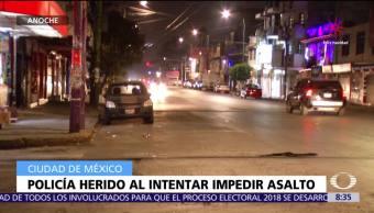 Policía resulta herido al intentar impedir asalto en la colonia Providencia, CDMX