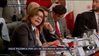 Senado discute Ley de Seguridad Interior