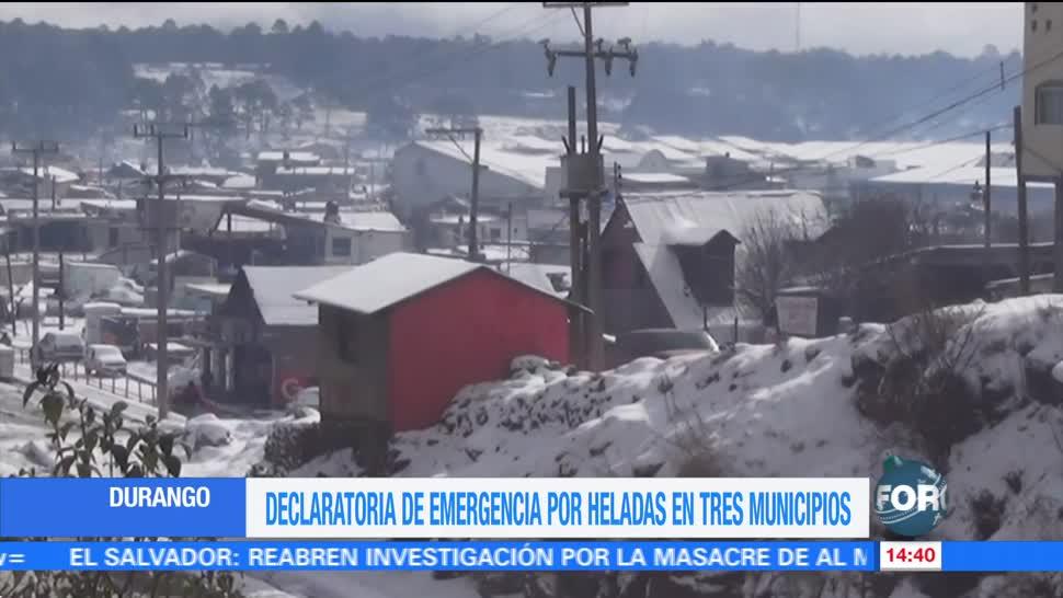 Frío afecta a varios estados de México