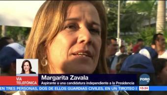 Margarita Zavala asegura que su estrategia está mejor definida