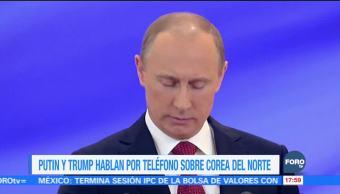 Putin y Trump hablan sobre Corea del Norte