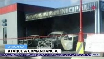 Hombres armados atacan la comandancia de Policía de Bachíniva, Chihuahua