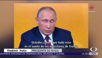 Putin: Injerencia de Rusia en EU es invento de opositores a Trump