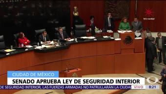 Senado devuelve a Cámara de Diputados la Ley de Seguridad Interior