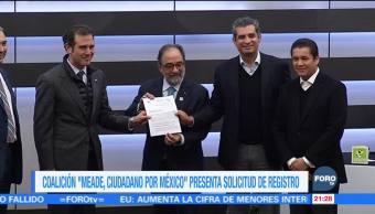 Coalición 'Meade, Ciudadano por México' presenta solicitud de registro