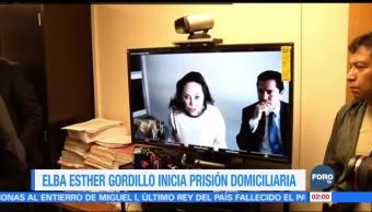 Elba Esther Gordillo inicia prisión domiciliaria