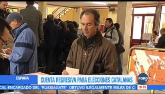 Cuenta regresiva para elecciones catalanas