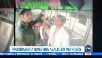 Procuraduría de la CDMX investiga asalto a usurarios del Metrobús