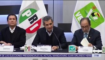 Partido Verde y Nueva Alianza registran solicitud de coalición ante el INE
