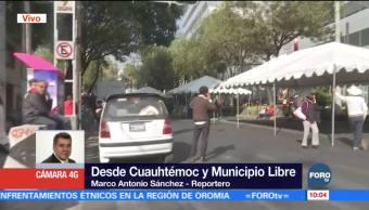 Manifestación provoca caos sobre avenida Cuauhtémoc, CDMX