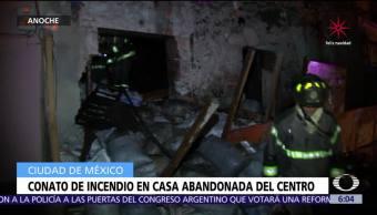Connato de incendio en casa abandonada en colonia Centro, CDMX