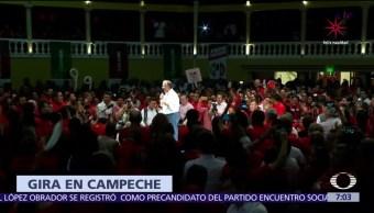 Meade visita Campeche y respalda pruebas médicas a candidatos
