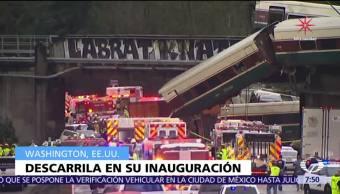 Suman 3 muertos por descarrilamiento de tren en Washington