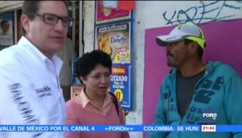 Salomón Chertorivski, precandidato al gobierno capitalino, visita Azcapotzalco