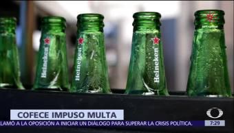 Cofece impone multa de 11 millones 789 mil pesos a Heineken