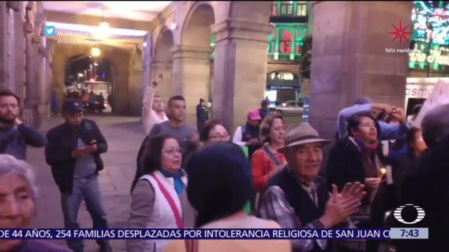 Damnificados del sismo en Tlalpan protestan con posada