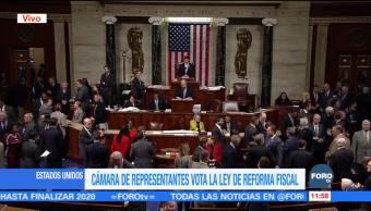 Cámara de Representantes aprueba la reforma fiscal de Estados Unidos