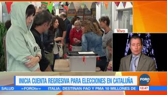 Inicia cuenta regresiva para elecciones en Cataluña