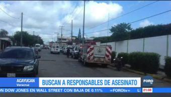 Operativo por asesinato de periodista en Veracruz