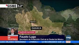 Sin incidentes en la CDMX por sismo: Fausto Lugo