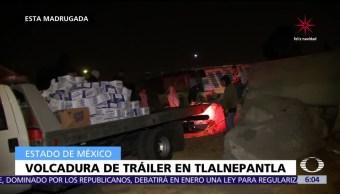 Servicios de emergencia atienden volcaduras en Tlalnepantla y CDMX