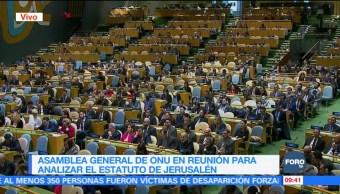 ONU inicia sesión de emergencia por el caso Jerusalén
