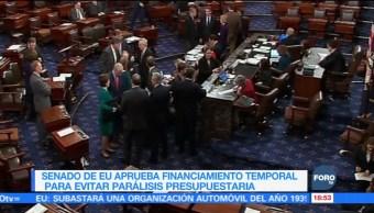 Senado aprueba financiamiento temporal en EU