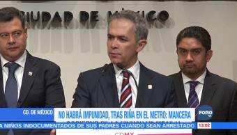 No habrá impunidad, tras riña en el Metro: Mancera