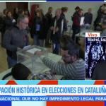 Participación histórica en elecciones en Cataluña